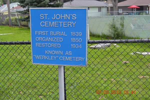 Photo of Werkley Cemetery Sign