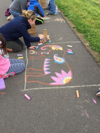 Earth Day Chalk Drawing